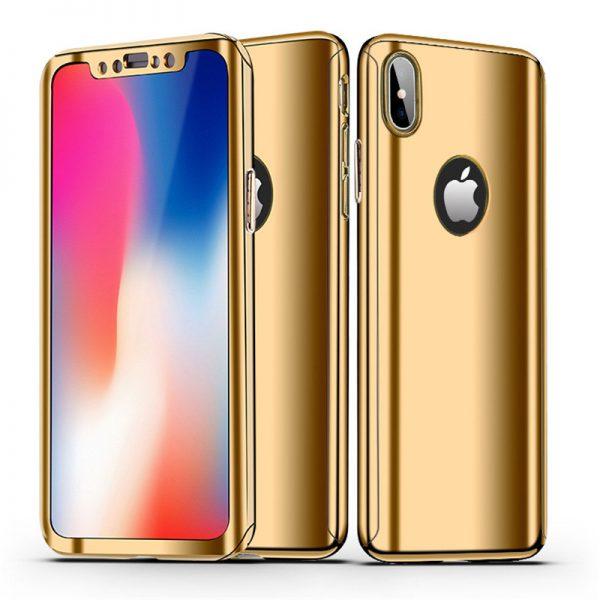 Arany 360 Tükör Tok iPhone Készülékhez