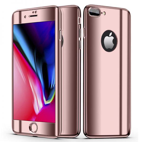Rózsaszín 360 Tükör Tok iPhone Készülékhez
