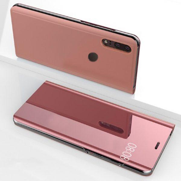 Rózsaszín Kihajthatós Tükrös Huawei Tok