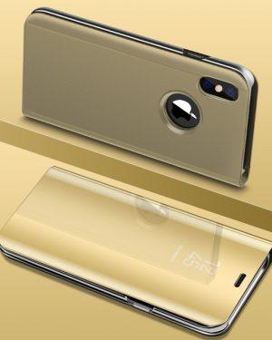 Arany Kihajthatós Tükrös iPhone Tok
