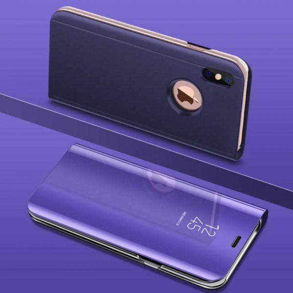 Lila Kihajthatós Tükrös iPhone Tok
